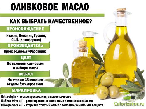 Полезные свойства оливкового масла, пищевая ценность и калорийность, вред оливкового масла, как его выбрать и хранить.