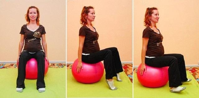 Гимнастика для беременных в 1, 2 3 триместрах в домашних условиях, на фитболе