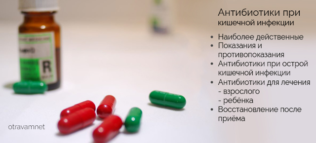 Какой антибиотик лучше при кишечной инфекции взрослому