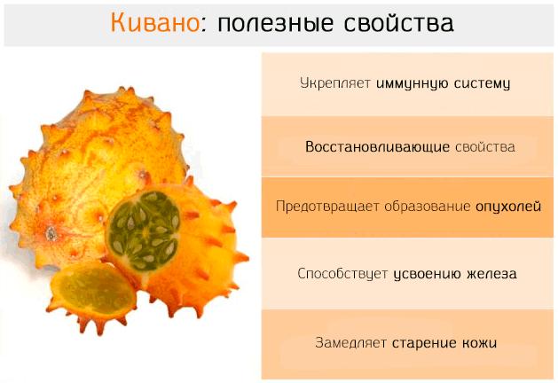 Кивано: польза, вред, состав, применение в кулинарии