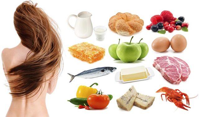 Диета при алопеции, продукты при выпадении волос