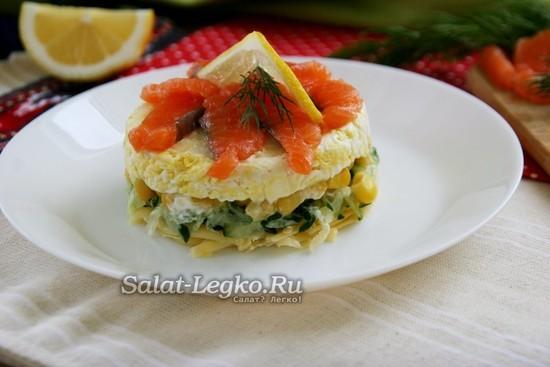 Салат с семгой «Русалочка» | ОкейДок