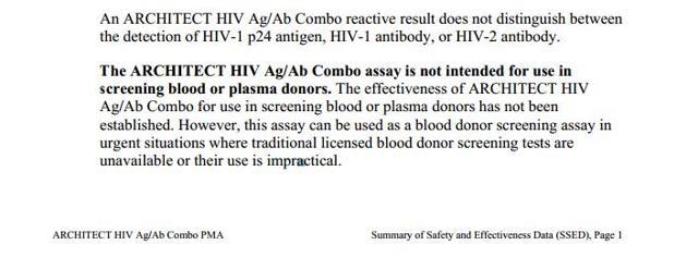 Насколько достоверен тест hiv ag/ab combo abbott architect?