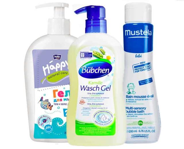 Средства для купания новорожденных, малышей с сухой кожей, детей с атопическим дерматитом